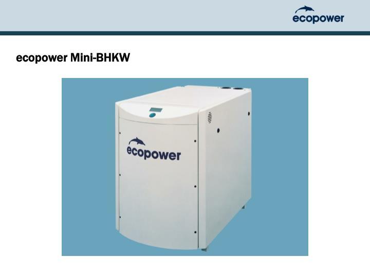 ecopower Mini-BHKW