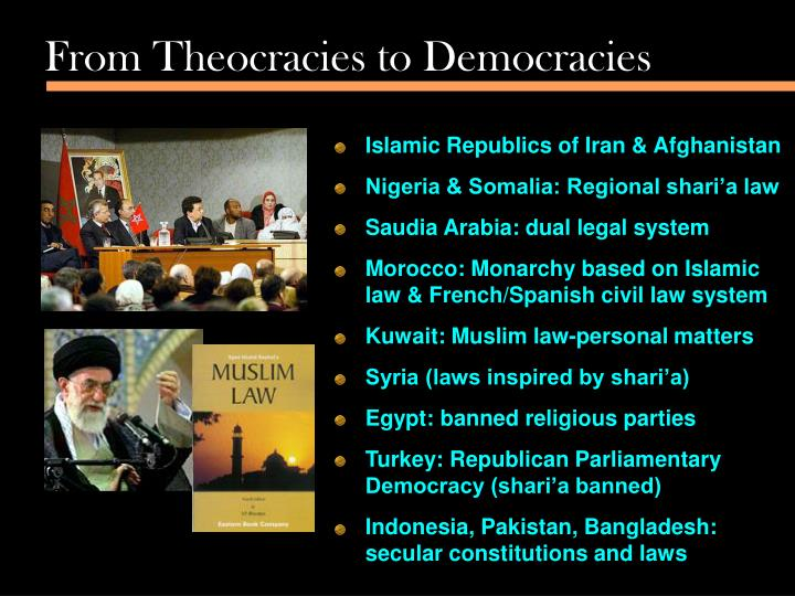 From Theocracies to Democracies