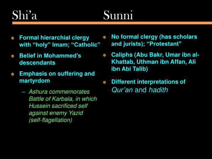 Shi'a  Sunni