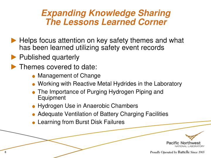 Expanding Knowledge Sharing