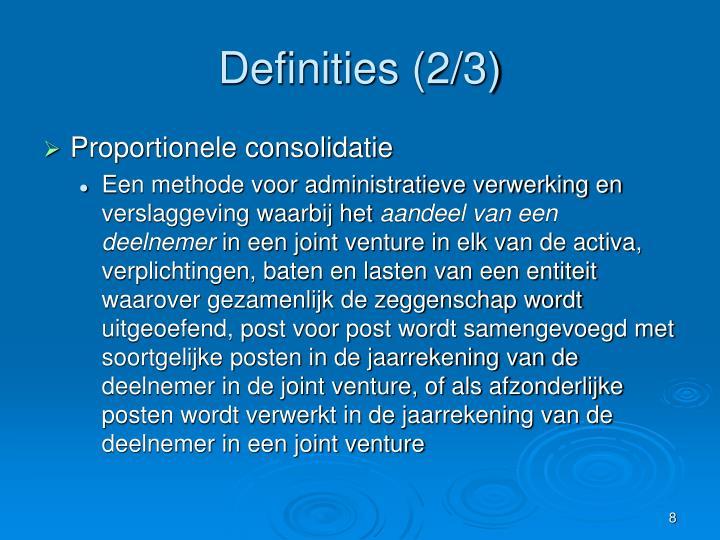 Definities (2/3)