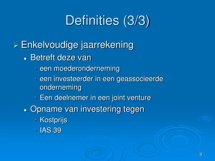 Definities (3/3)