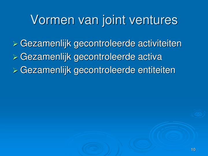 Vormen van joint ventures