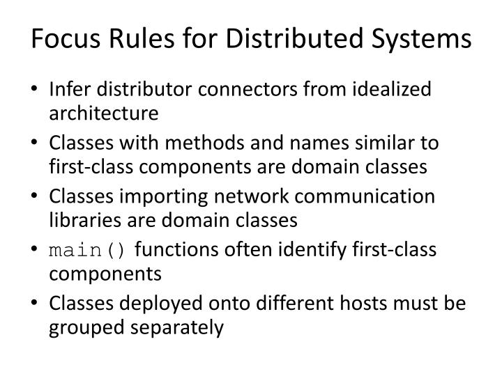 Focus Rules for Distributed Systems
