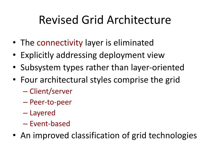 Revised Grid Architecture
