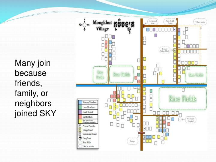 Many join because friends, family, or neighbors joined SKY