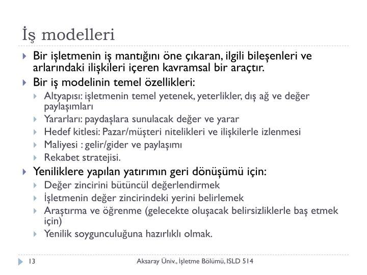 İş modelleri