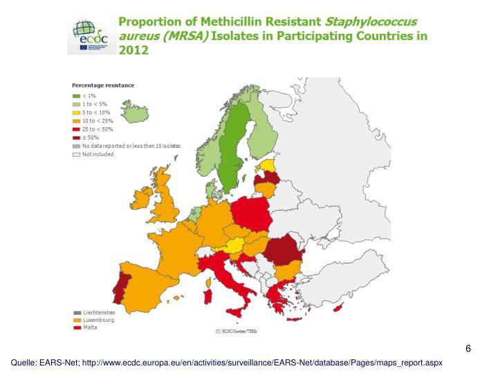 Quelle: EARS-Net; http://www.ecdc.europa.eu/en/activities/surveillance/EARS-Net/database/Pages/maps_report.aspx