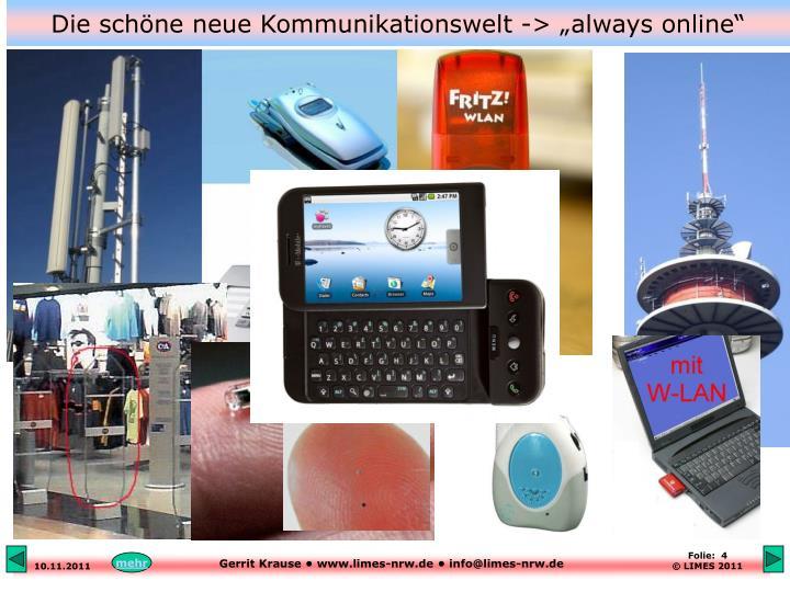 """Die schöne neue Kommunikationswelt -> """"always online"""""""