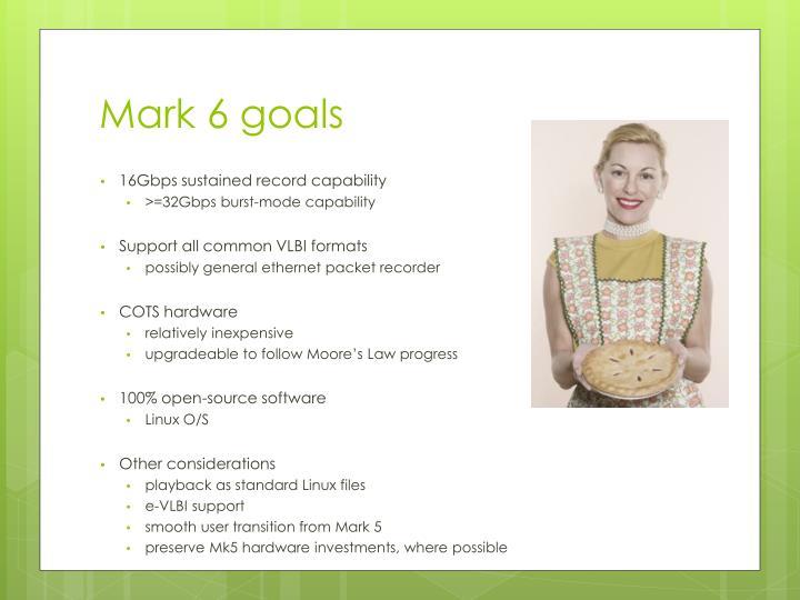 Mark 6 goals