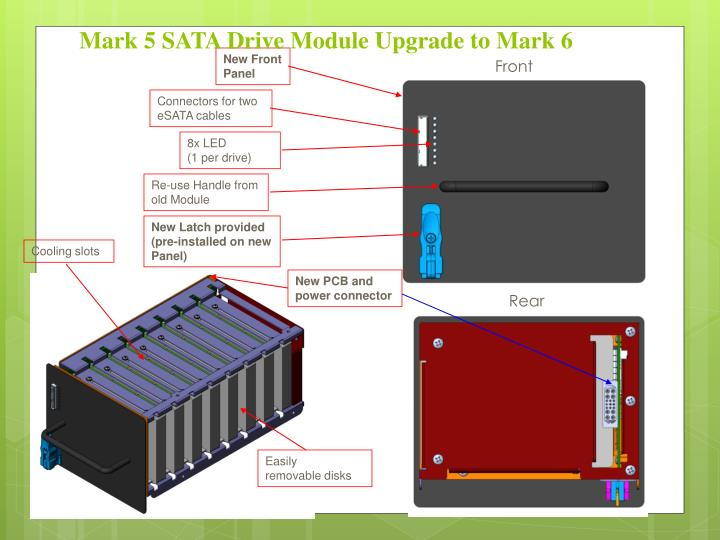 Mark 5 SATA Drive Module Upgrade to Mark 6