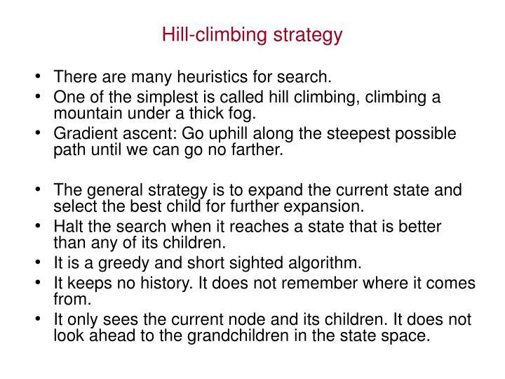 Hill-climbing strategy