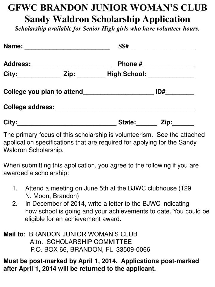 GFWC BRANDON JUNIOR WOMAN'S CLUB