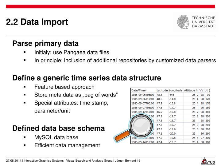 2.2 Data Import