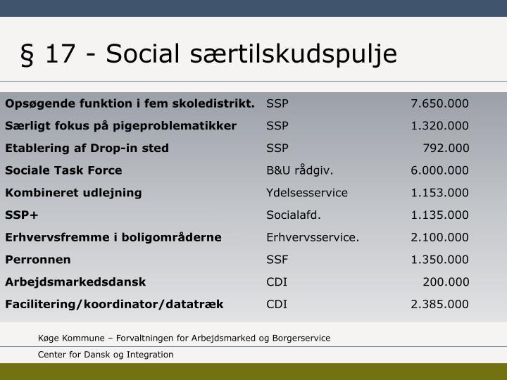 § 17 - Social