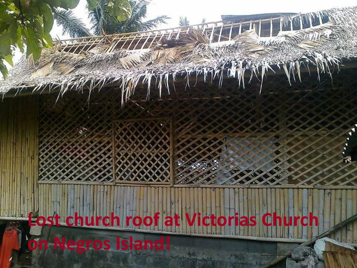 Lost church roof at