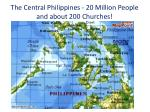 the central philippines 20 million people and about 200 churches