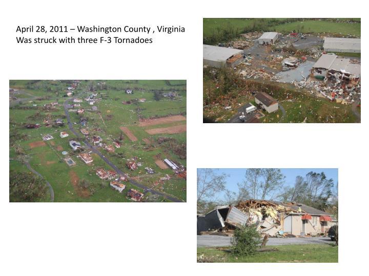 April 28, 2011 – Washington County , Virginia