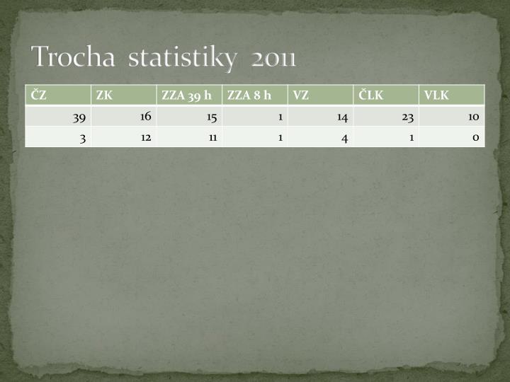 Trocha  statistiky  2011