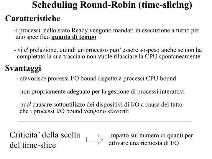 Scheduling Round-Robin (time-slicing)