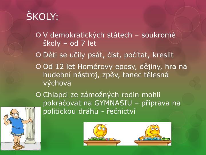 ŠKOLY: