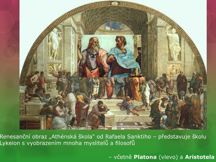 """Renesanční obraz """"Athénská škola"""" od Rafaela"""