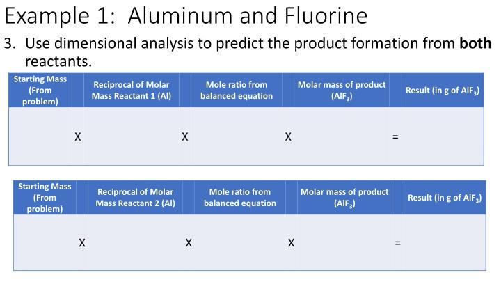 Example 1:  Aluminum and Fluorine