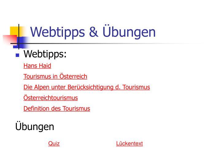 Webtipps & Übungen