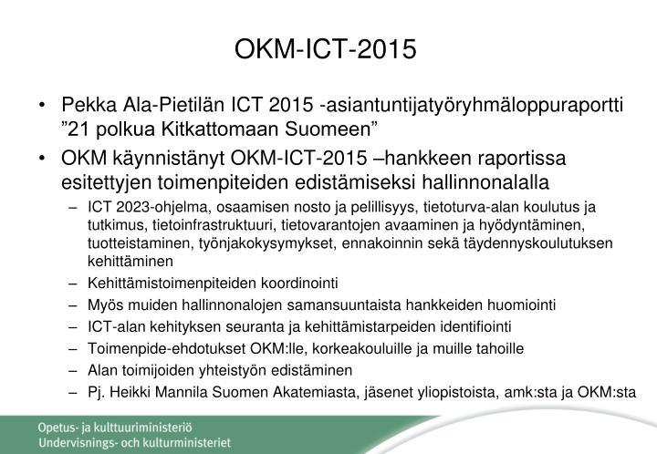 OKM-ICT-2015