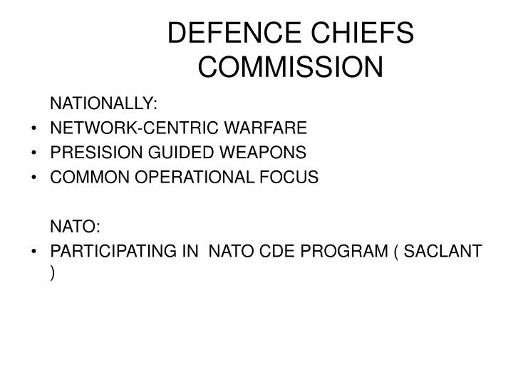 Defence chiefs commission