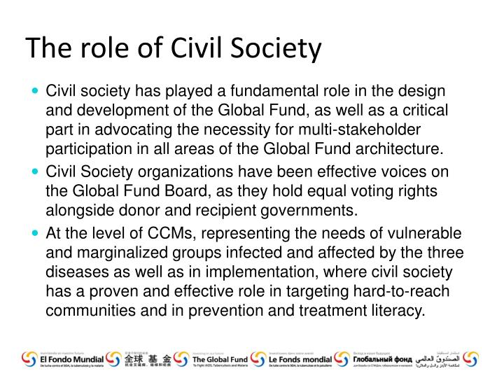 The role of Civil Society