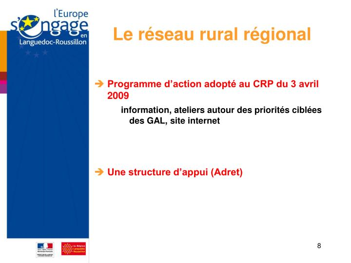 Le réseau rural régional