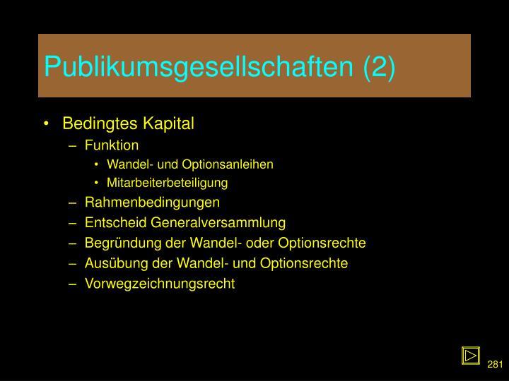 Publikumsgesellschaften (2)