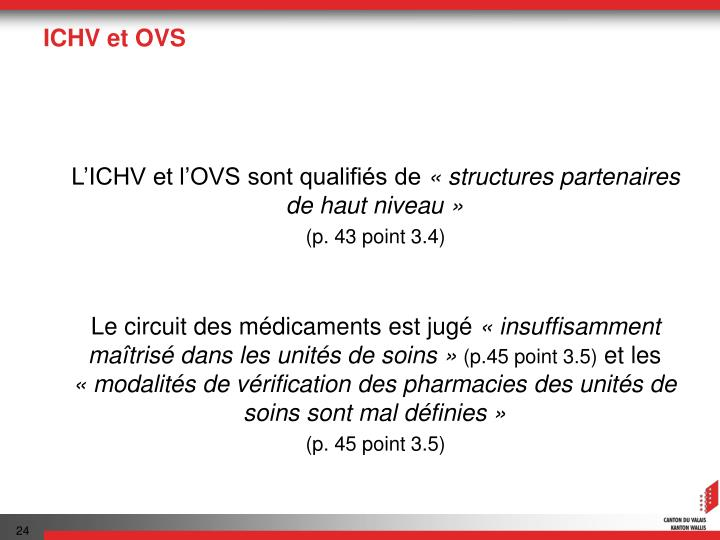 ICHV et OVS