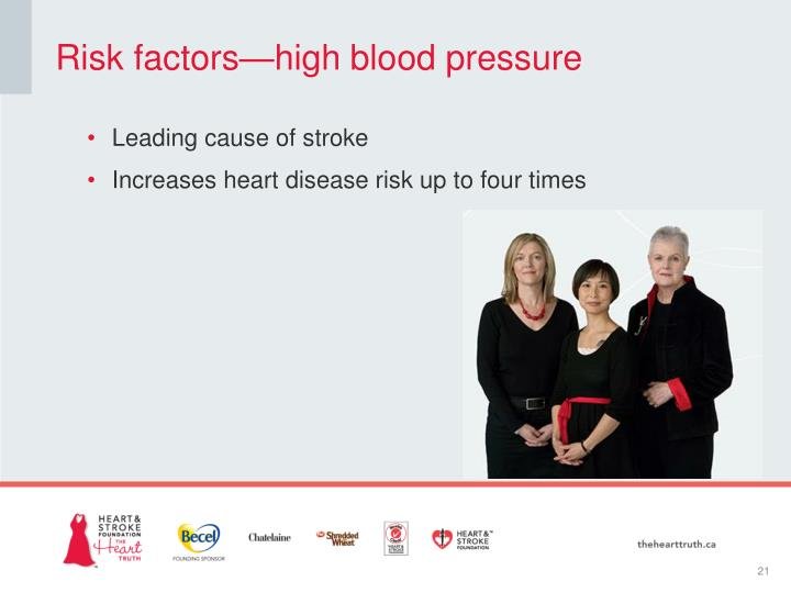 Risk factors—high blood pressure