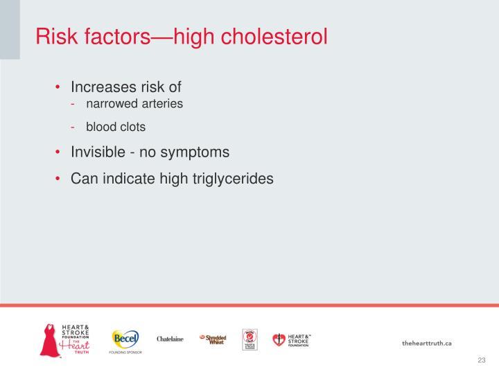 Risk factors—high cholesterol