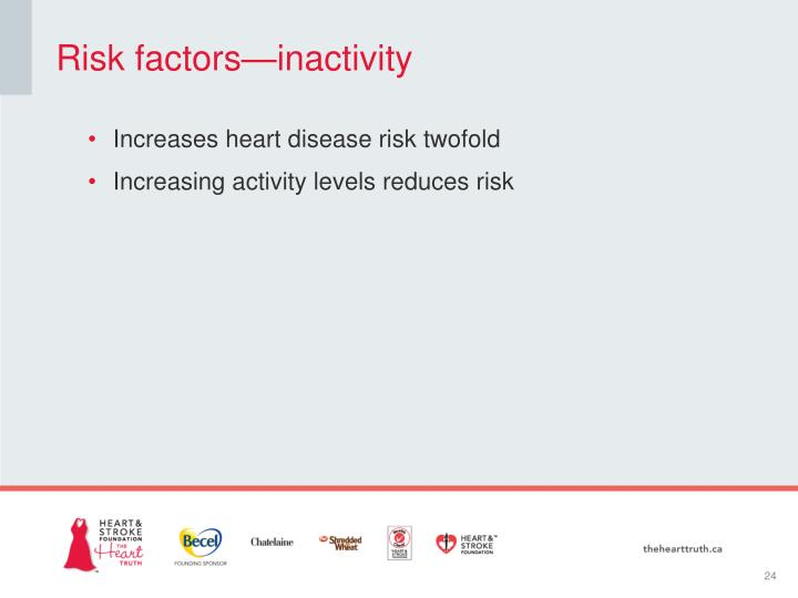 Risk factors—inactivity