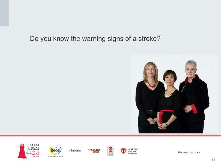 Do you know the warning signs of a stroke?