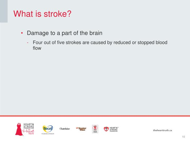 What is stroke?