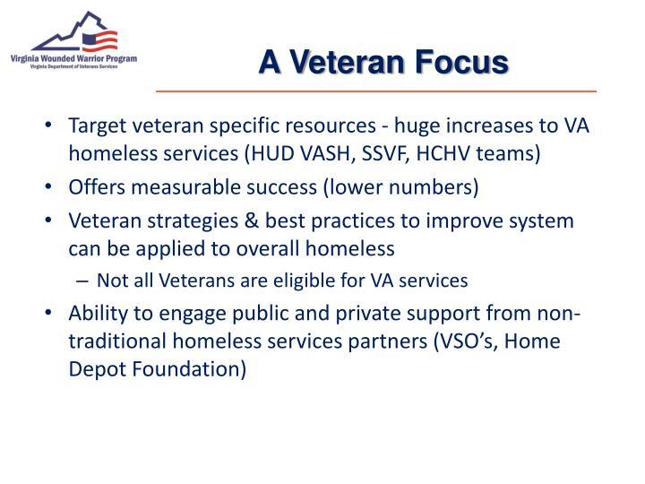 A Veteran Focus