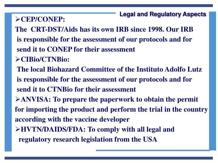 Legal and Regulatory Aspects