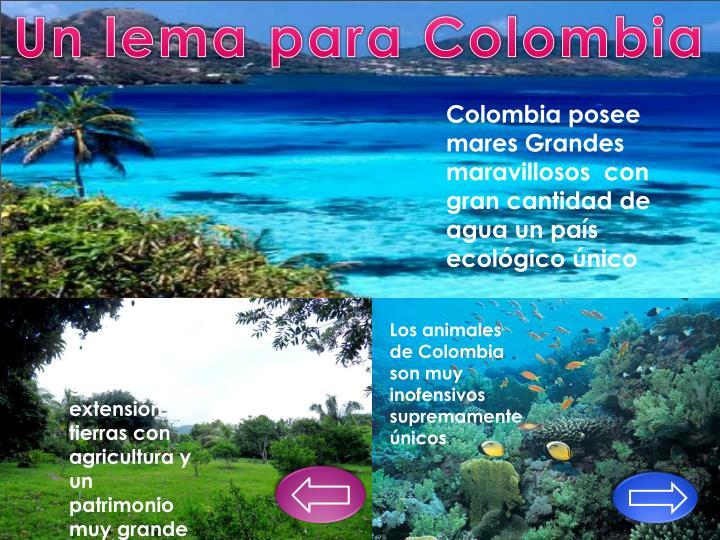 Un lema para Colombia