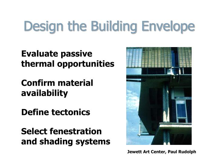 Design the Building Envelope