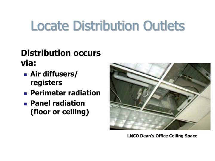 Locate Distribution Outlets
