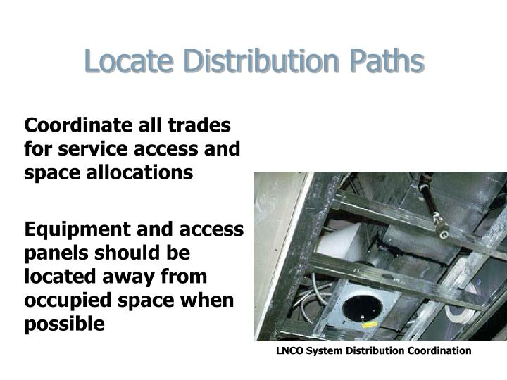 Locate Distribution Paths