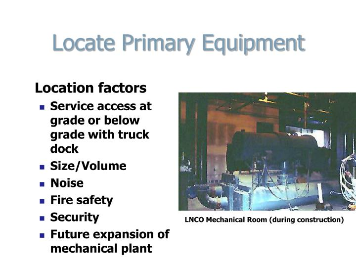 Locate Primary Equipment