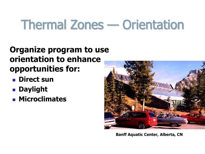 Thermal Zones — Orientation