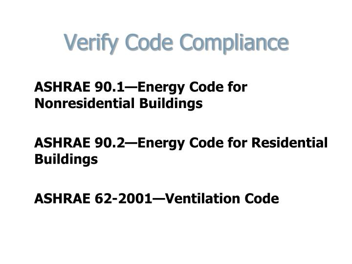 Verify Code Compliance