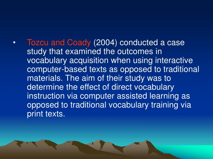 Tozcu and Coady
