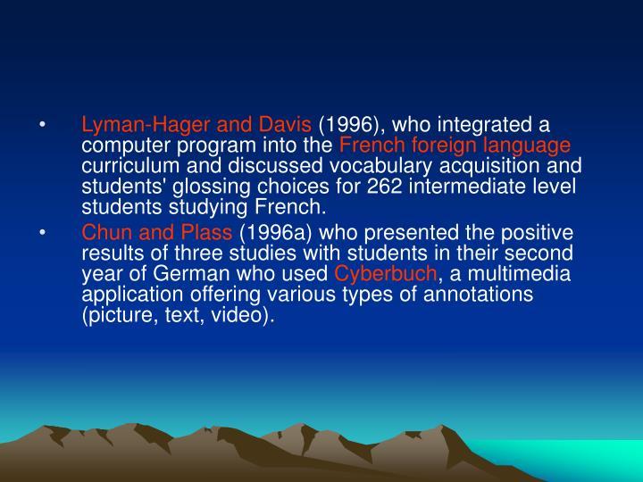 Lyman-Hager and Davis